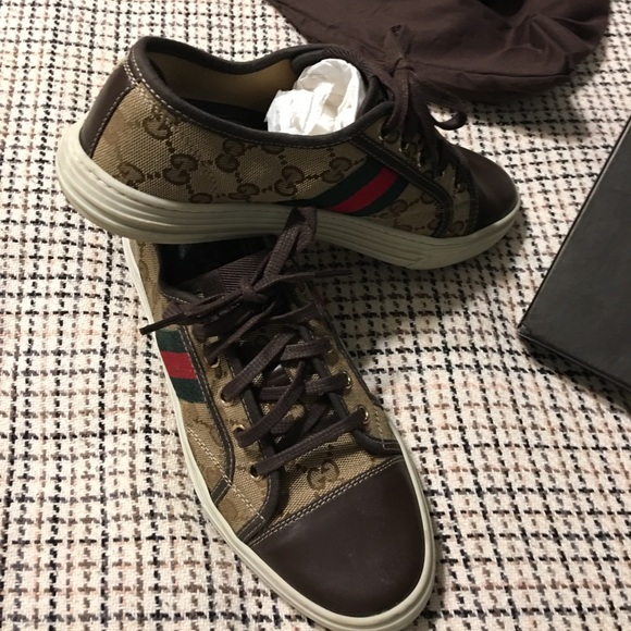 Gucci Web Converse Style Sneakers Size 38 8 EUC